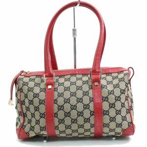 Auth Gucci GG Boston Canvas Bag #925G15